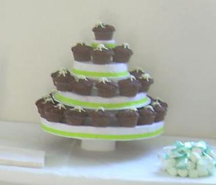 Cardboard Cup Cake Tower