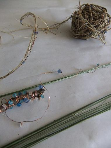 Beaded Flax string