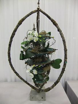 Free standing Floral Art design: Harnessing the Wind