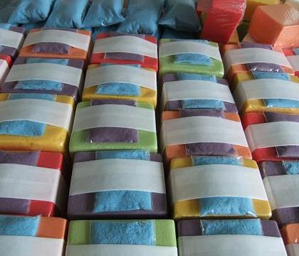 Rainbow Oasis Foam Gift Bags