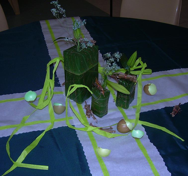 Easter Parade green table