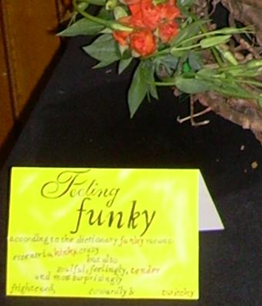 Feeling Funky- Floral Art Competition note