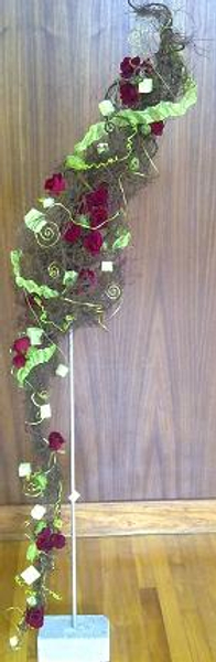 Floral Art Competition What Twisted Tales We Weave design