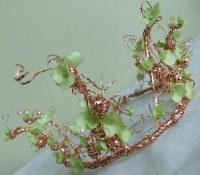 Copper wire Spiral pot scrubber becomes a Tiara