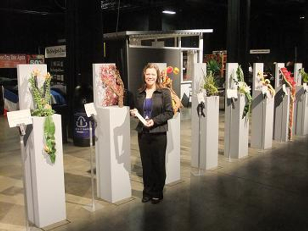Christine de Beer at her Zipper Design at the 10th World show of WAFA in Boston