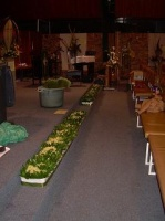 Flower Festival, Methodist Church Hall, Durbanville, South Africa: Floral Kneelers