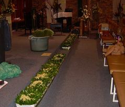 Flower Festival, Methodist Church Hall, Durbanville, South Africa: Floral Kneelers