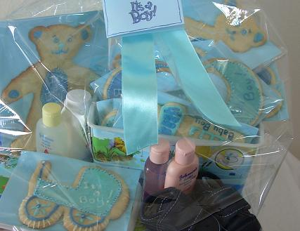 It'' a boy iced cookies