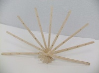 Birch wood coffee stir sticks fan
