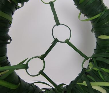 Making the lily grass harness
