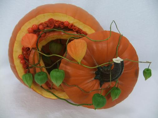Pumkin and lantern Thanksgiving Harvest floral art design