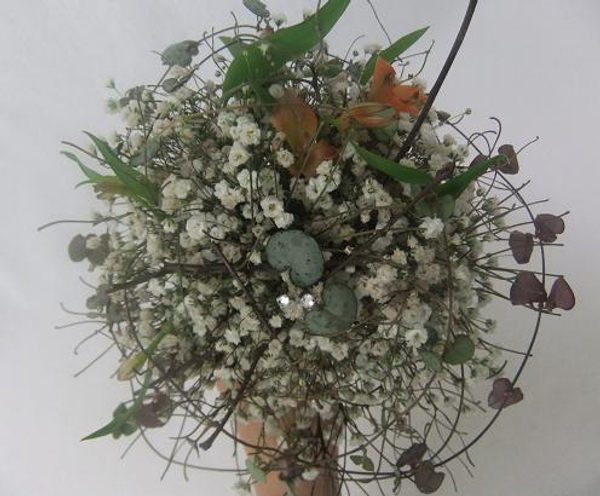 Gypsophila forest floor snowball posy