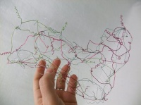 Messy wire lace
