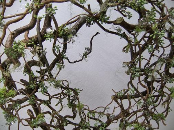 Forest Filigree Christmas wreath with moss and lichen