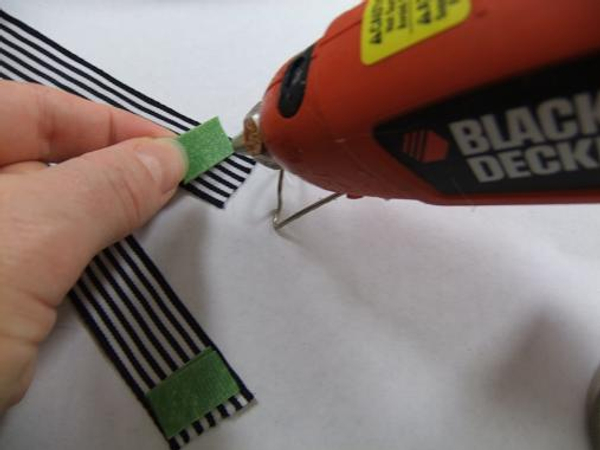 Pair the velcro strips to make sure you glue them the right way around