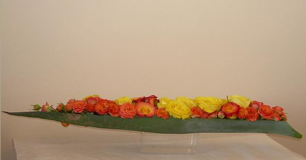 Roses and sisal design