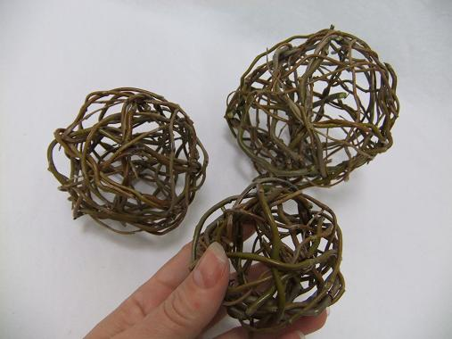 Three willow spheres done and ready to design with