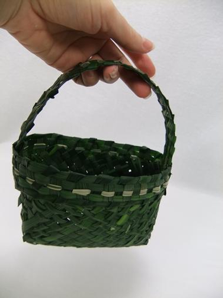 Basket woven from monkey grass.
