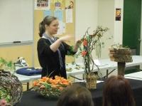 A Floral Fable Design demonstration Floral Art Structures
