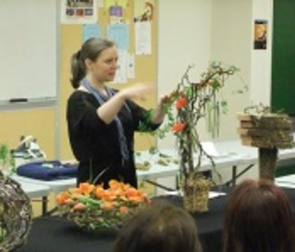 A Floral Fable Design demonstration Floral Art Structures