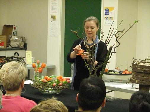 Floral Art demonstration at The Capilano Flower Arrangers club- A Floral Fabel.