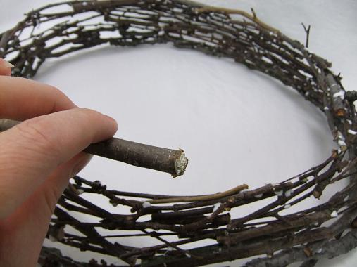 Keep building up the platter, twig by twig