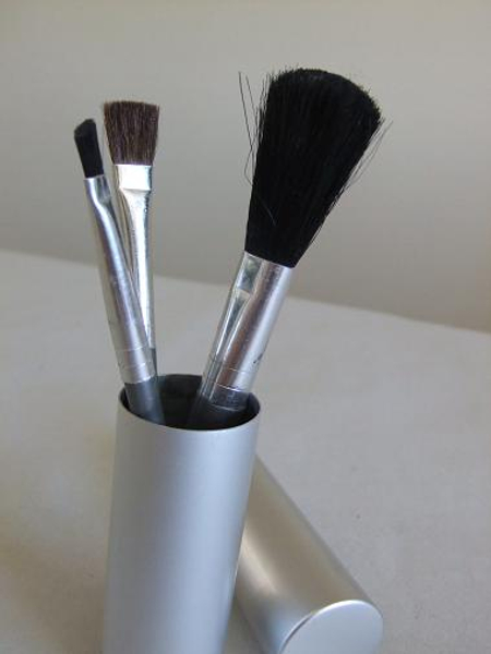 Makeup brush set in my tool bag