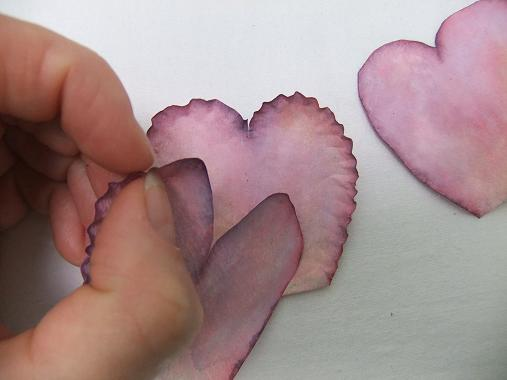 Tutorials paper flowers ruffle the coffee filter sweet pea petal by pinching the edges mightylinksfo