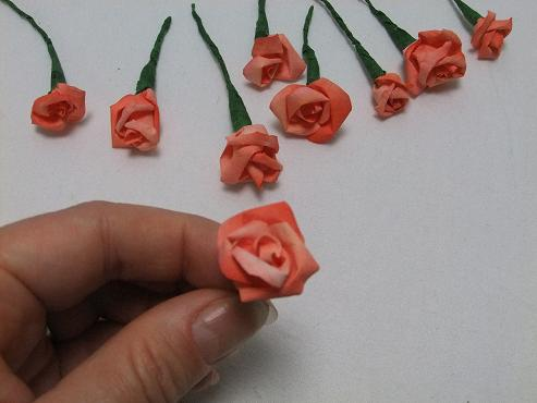Tutorials paper flowers small coffee filter roses mightylinksfo
