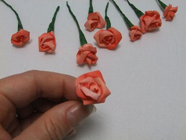 Small coffee filter roses.