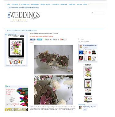 Spring Clean design in the DIY Weddings Magazine.