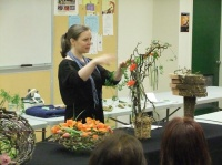 A Floral Fable Design demonstration at the Capilano Flower Arranging club
