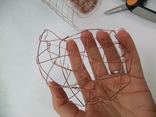 Copper mesh pebble.