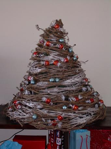 Mount Crumpit Christmas tree made from wreaths