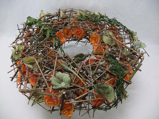 Overgrown rose wreath.