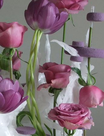 The plaited tulips are used to emphasize the dreamlike and experimental quality of the design