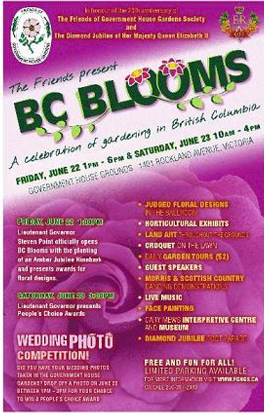 BC Blooms poster.