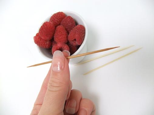 For a red stain use Raspberries.