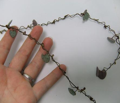 Delicate twig and rosary vine garland