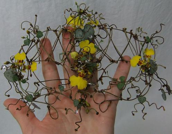 Floral art Cherry twig Masquerade Masque.