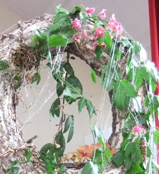 I then sprayed the web with water to add glistening rain drops