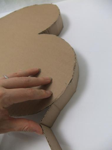 The thick cardboard folds easily.