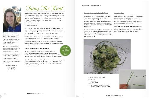 Tying the knot loose curls design in DIY Weddings Magazine.