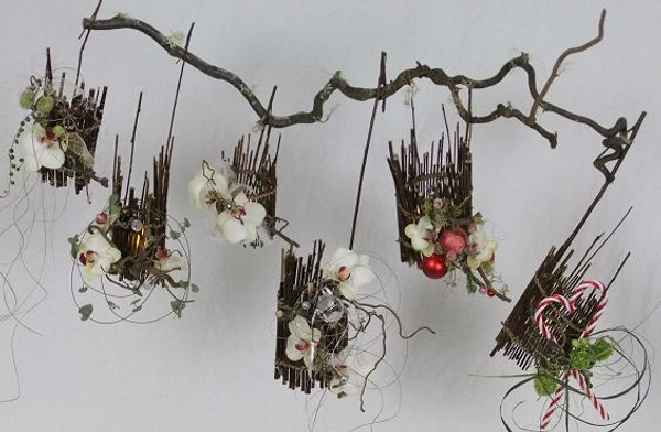 Six twig lanterns
