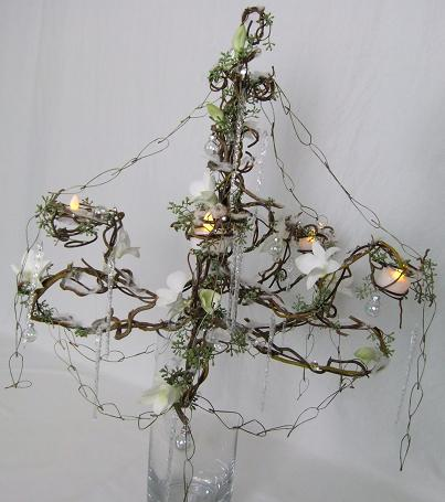 The glories of Christmases long, long ago Floral art Chandelier design.