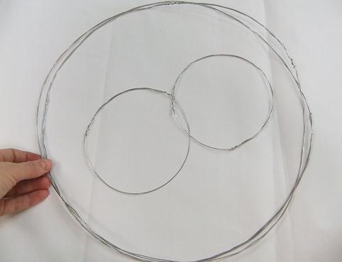 And two large wire circles