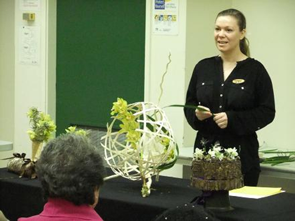 Floral Art and Craft Demonstration Weaving.