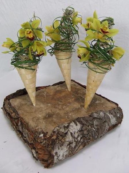 Floral craft cone designs