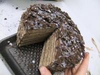 Bark Veneer Cardboard Floral Cake