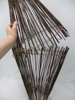 Funnel shaped pick-up-sticks armature
